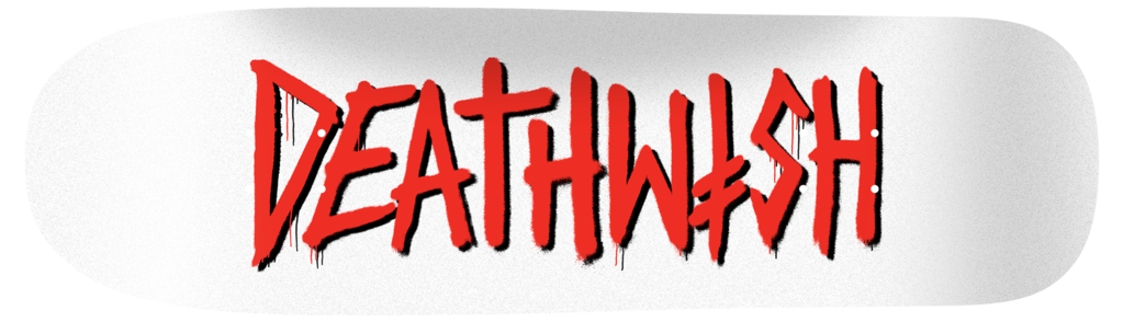 Deathwish DEATH TAG SHAPED WHITE/RED 8.6 Skateboard Deck