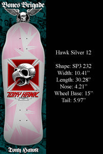 Powell Bones Brigade Tony Hawk Silver 12 Reissue Deck