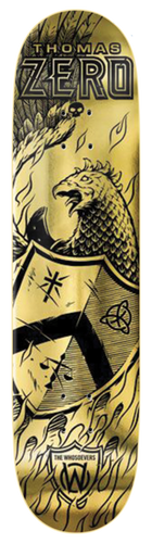 Zero Whosoevers - Thomas - Gold Skateboard Deck