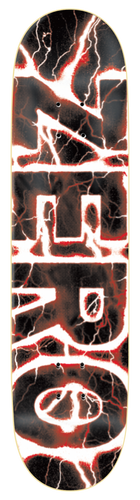 Zero Lightning Bold í� Red Skateboard Deck