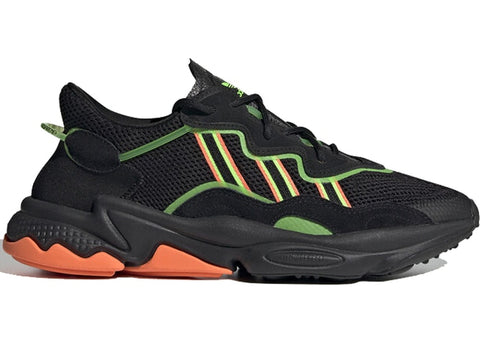 ADIDAS OZWEEGO BLACK ORANGE GREEN