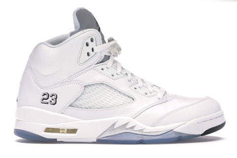 JORDAN 5 METALLIC WHITE