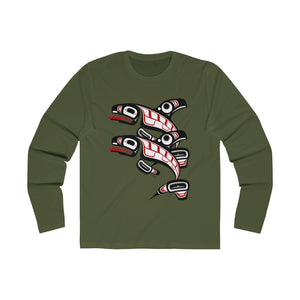 Killer Whale Men's Long Sleeve Crew Tee
