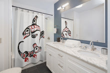Load image into Gallery viewer, Killer Whale & Wolf Shower Curtains