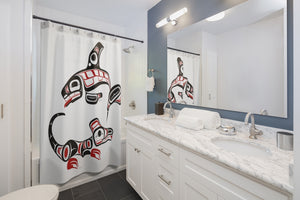 Killer Whale & Wolf Shower Curtains