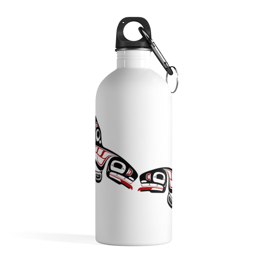 Killer Whale Stainless Steel Water Bottle
