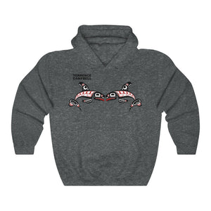 Raven and Killer whale Unisex Heavy Blend™ Hooded Sweatshirt