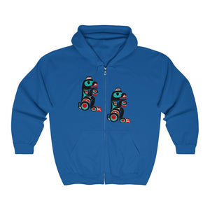 Bear Unisex Heavy Blend Full Zip Hooded Sweatshirt