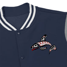 Load image into Gallery viewer, Killer Whale Men's Varsity Jacket