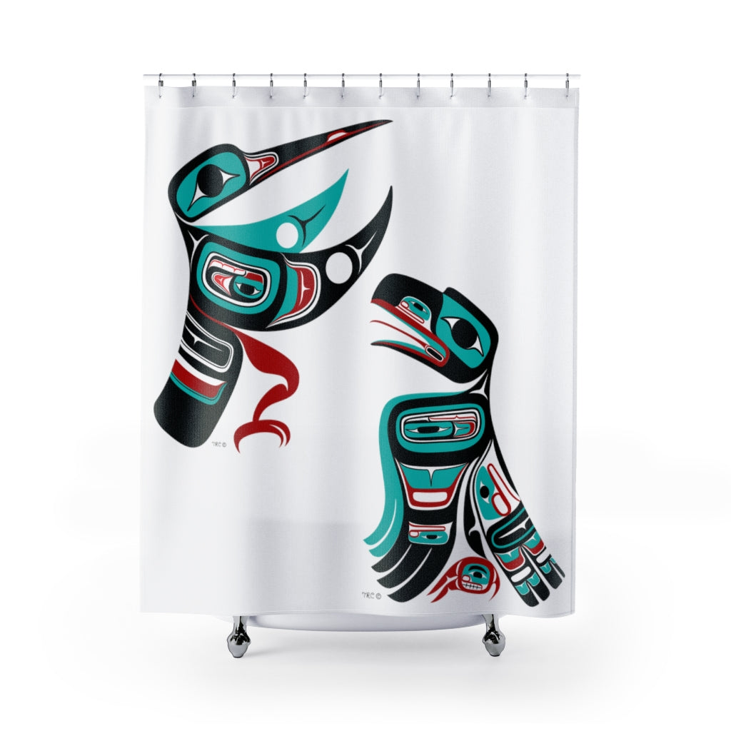 Hummingbird & Raven Shower Curtains