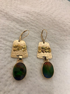 24k Gold Amulet Earrings
