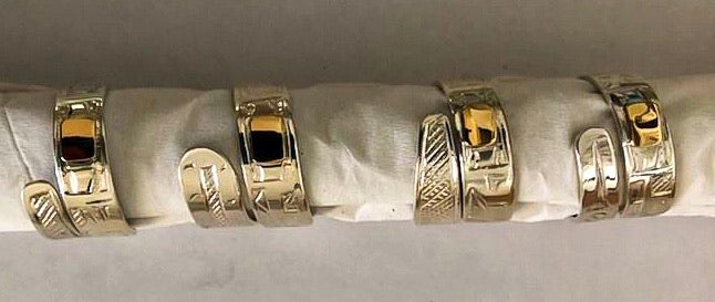 14k Gold & Silver Customizable Wrap Rings