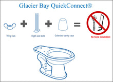 Load image into Gallery viewer, Glacier Bay 2-Piece 1.28 GPF High Efficiency Single Flush Round Toilet in White - Denali Building Supply