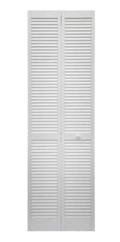 ReliaBilt 24-in x 80-in White Louver Prefinished Pine Wood Bifold Door (Hardware Included)
