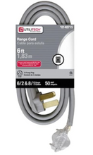 Load image into Gallery viewer, Utilitech 6-ft 3-Prong Gray Range Appliance Power Cord