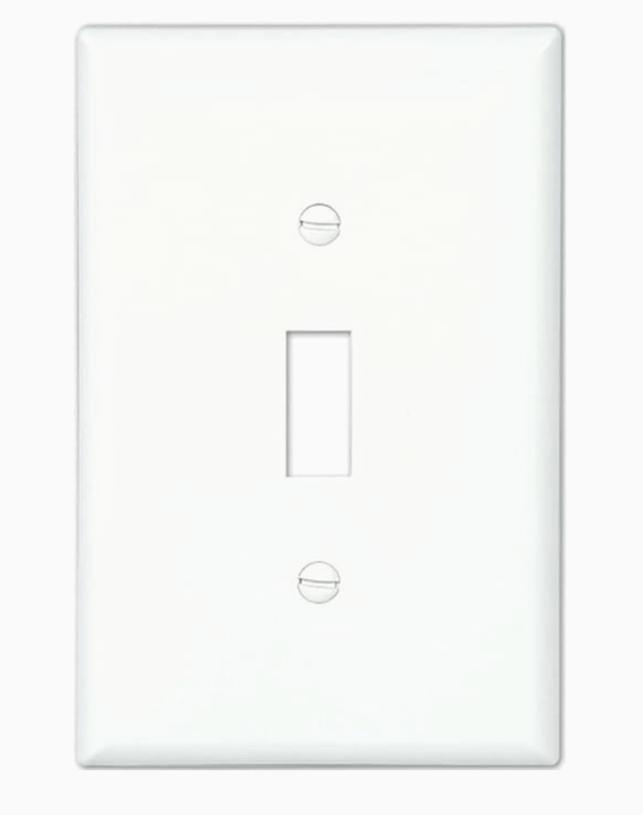 Eaton 1-Gang 10-Pack White Single Toggle Midsize Wall Plate