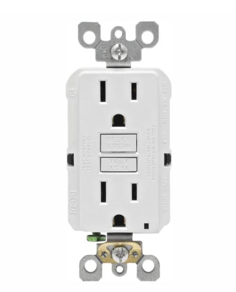 Hover Image to Zoom Best Seller 15 Amp 125-Volt Duplex Self-Test Slim GFCI Outlet, White