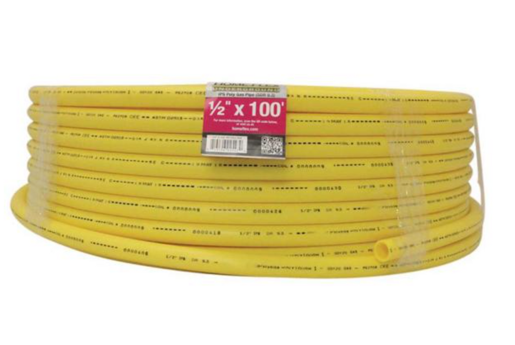 1/2 in. IPS x 100 ft. DR 9.3 Underground Yellow Polyethylene Gas Pipe