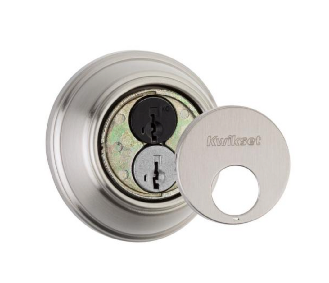 816 Series Satin Nickel Single Cylinder Key Control Deadbolt featuring SmartKey Security