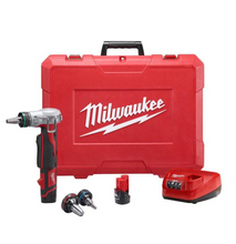 Load image into Gallery viewer, M12 12-Volt Lithium-Ion Cordless ProPEX Expansion Tool Kit with (2) 1.5Ah Batteries, (3) Expansion Heads and Hard Case
