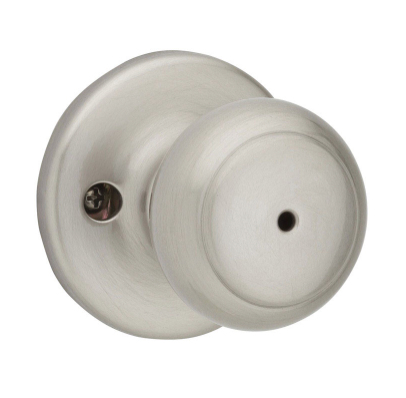 Kwikset Cove Satin Nickel Steel Privacy Knob 3 Right or Left Handed