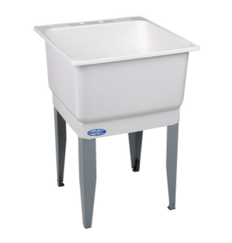 Utilatub 23 in. W x 25 in. D Single Polypropylene Laundry Tub