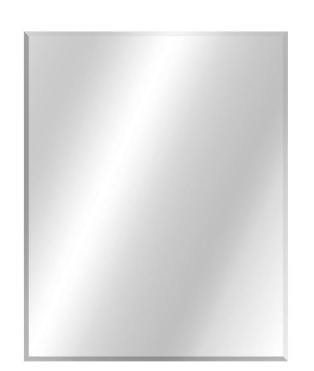 24 in. W x 30 in. H Frameless Rectangular Beveled Edge Bathroom Vanity Mirror in Silver