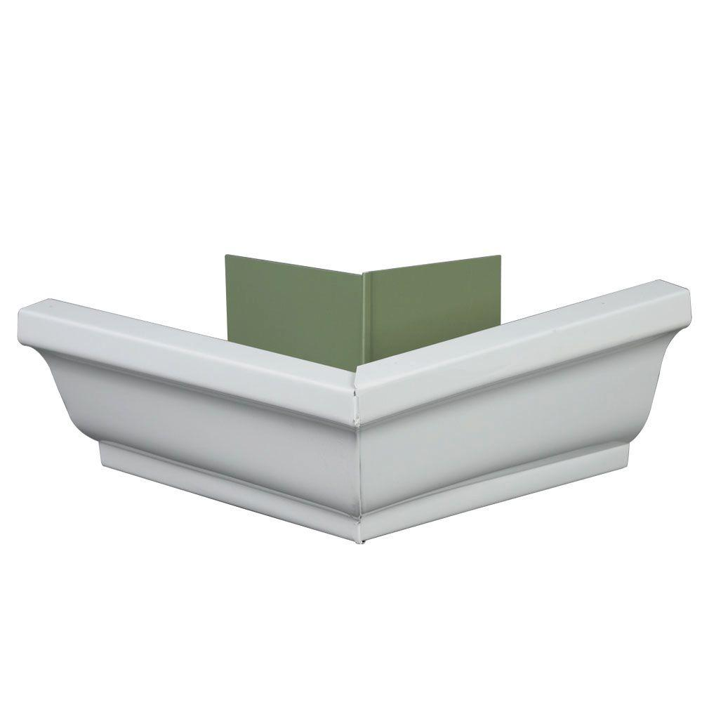 5 in. K-Style Aluminum Outside Gutter Mitre - Denali Building Supply