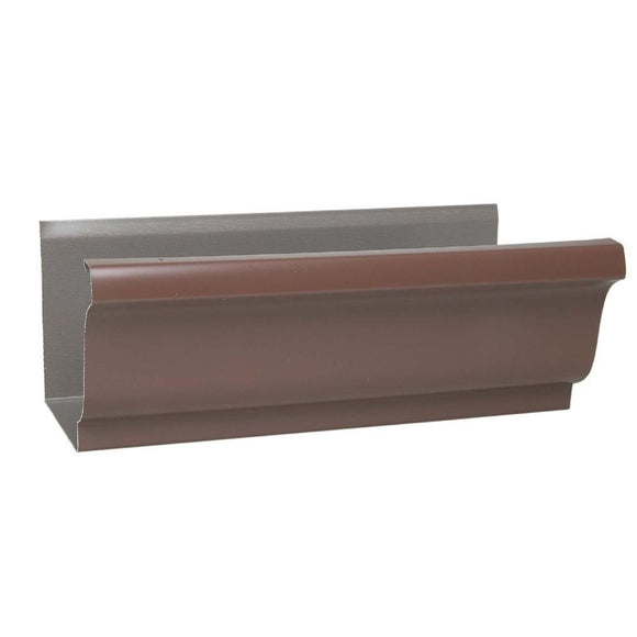 10 ft. Aluminum Gutter Brown - Denali Building Supply