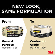 Load image into Gallery viewer, 3M Scotch 1.41 in. x 60.1 yds. Contractor Grade Masking Tape (6-Pack) - Denali Building Supply