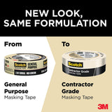 3M Scotch 1.41 in. x 60.1 yds. Contractor Grade Masking Tape (6-Pack) - Denali Building Supply
