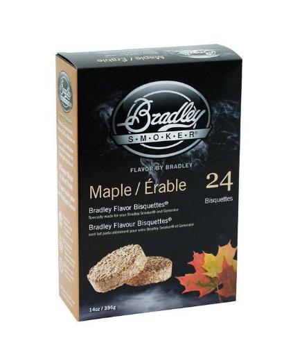 Bradley Smoker Maple All Natural Wood Bisquettes 24 pk