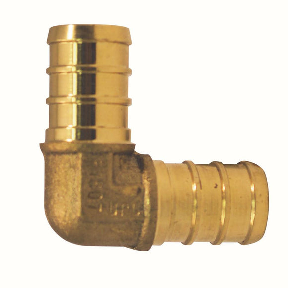 1/2 in. Brass PEX Barb 90-Degree Elbow - Denali Building Supply