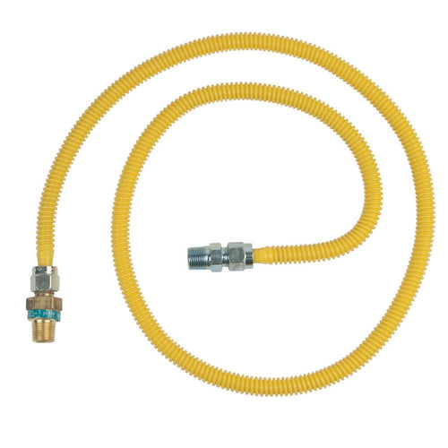 1/2 in. MIP x 1/2 in. MIP x 60 in. Gas Connector (1/2 in. OD) w/Safety+Plus2 Thermal Excess Flow Valve (53,200 BTU) - Denali Building Supply