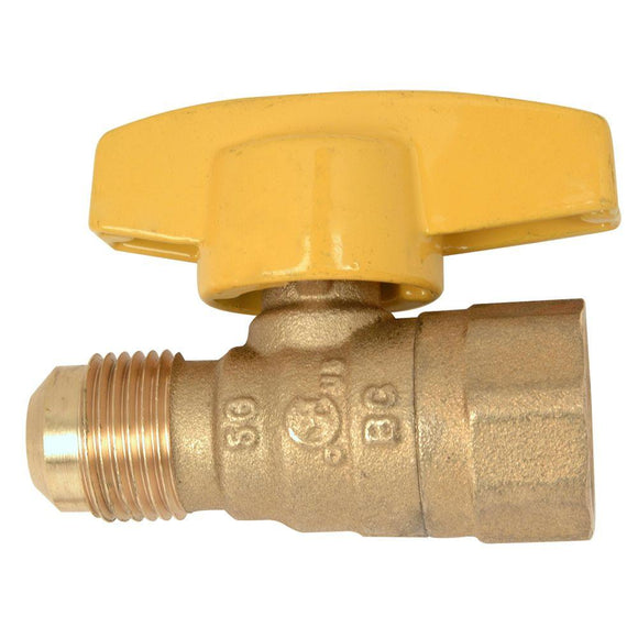 1/2 in. OD Flare x 1/2 in. FIP Gas Ball Valve - Denali Building Supply