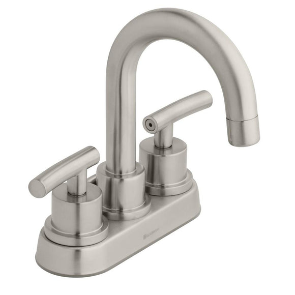 Glacier Bay Dorset 4 in. Centerset 2-Handle High-Arc Bathroom Faucet in Brushed Nickel