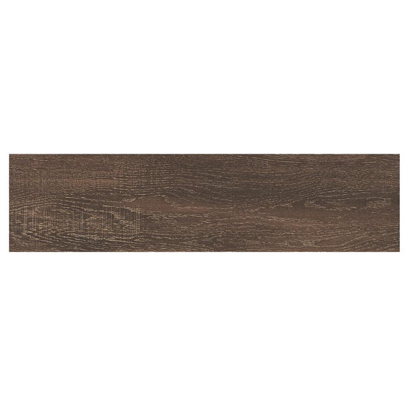 Coffee Wood 6 in. x 24 in. Glazed Porcelain Floor and Wall Tile (14.55 sq. ft. / case) - Denali Building Supply