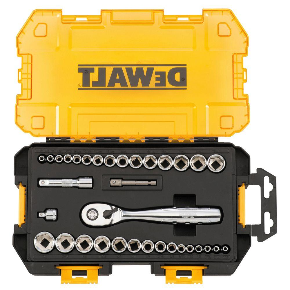 DeWalt 1/4 in. and 3/8 in. Drive Socket Set (34-Piece) - Denali Building Supply