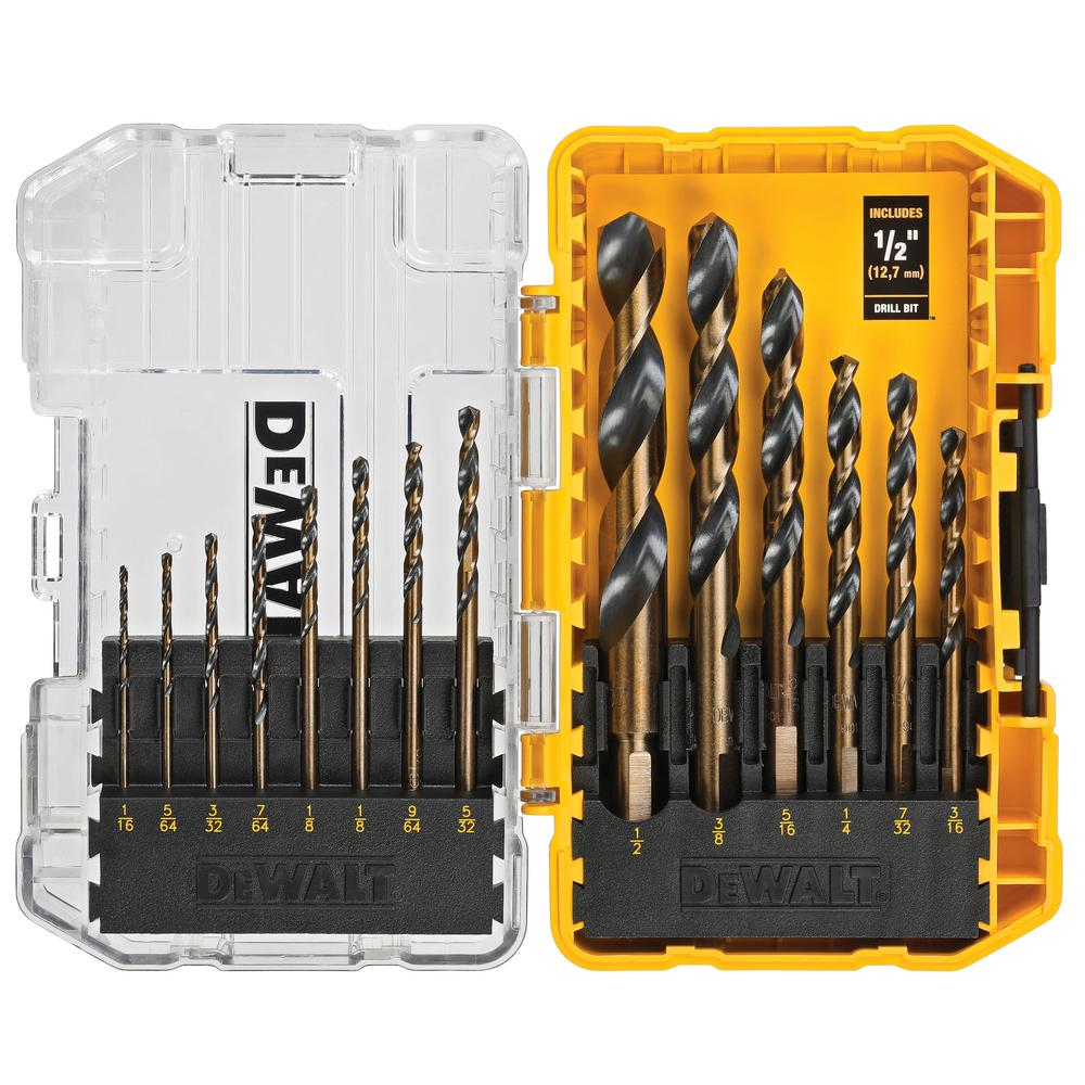 Dewalt Black and Gold Drill Bit Set (14-Piece) - Denali Building Supply