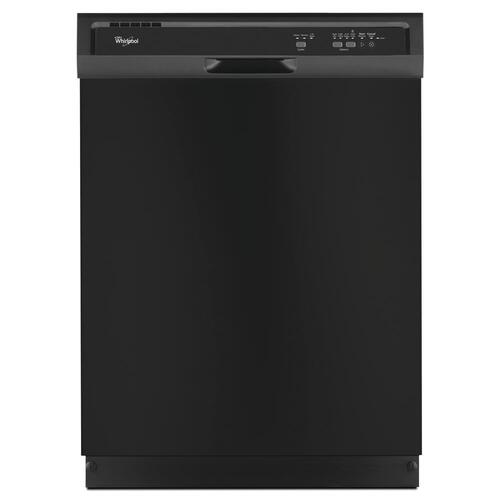 Whirlpool® 3-Cycle Black Built-In Dishwasher