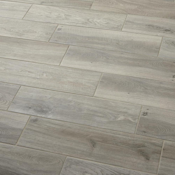 Ember Wood 6 in. x 24 in. Glazed Porcelain Floor and Wall Tile (14.55 sq. ft. / case) - Denali Building Supply