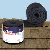 Cobra Exhaust Vent 10-1/2 in. x 20 ft. Mesh Roll Ridge Vent in Black - Denali Building Supply