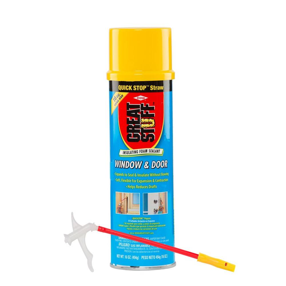 Great Stuff 16 oz. Window and Door Insulating Foam Sealant with Quick Stop Straw