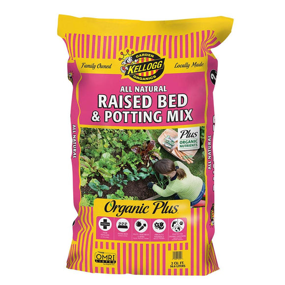 2 cu. ft. All Natural Raised Bed and Potting Mix Premium Outdoor Container Mix - Denali Building Supply