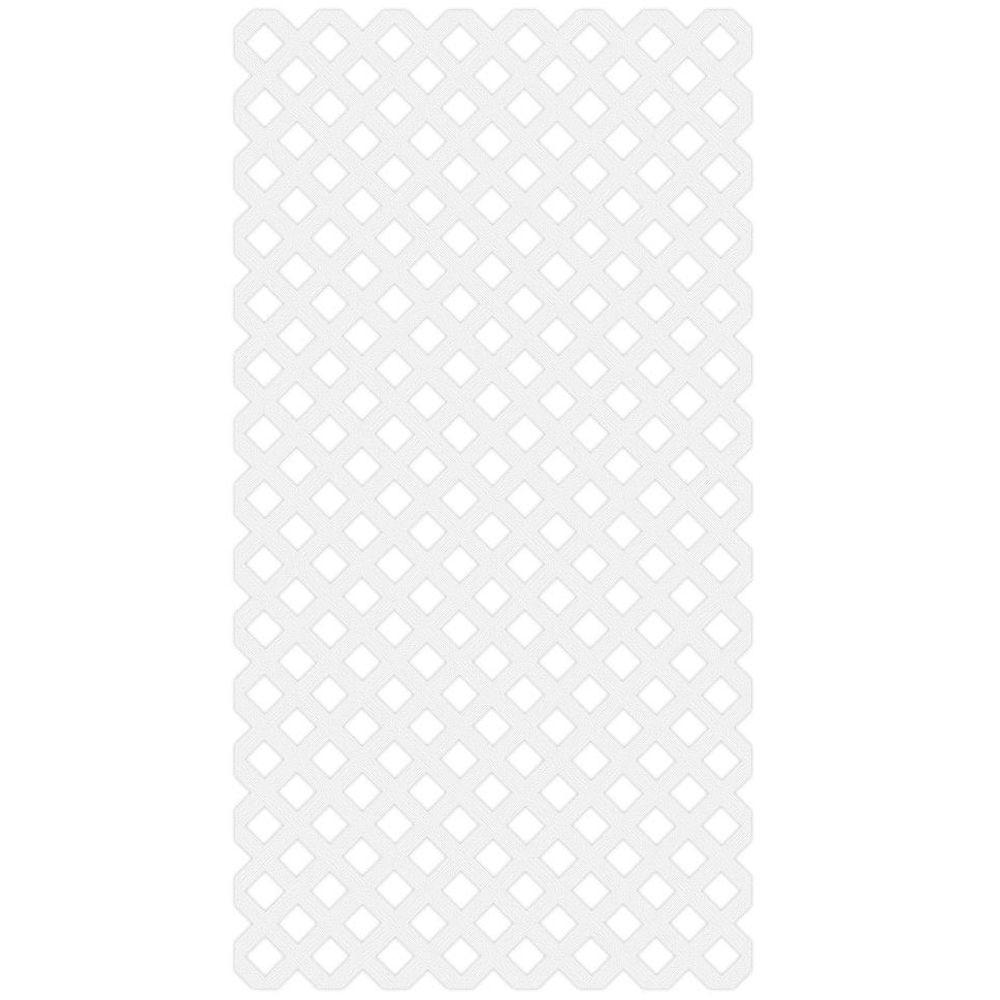 4 ft. x 8 ft. White Garden Vinyl Lattice - Denali Building Supply