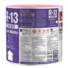 Load image into Gallery viewer, R-13 Pink Kraft Faced Fiberglass Insulation Continuous Roll 15 in. x 32 ft. by Owens Corning