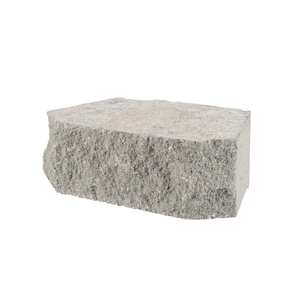 4 in. x 11.75 in. x 6.75 in. Pewter Concrete Retaining Wall Block - Denali Building Supply