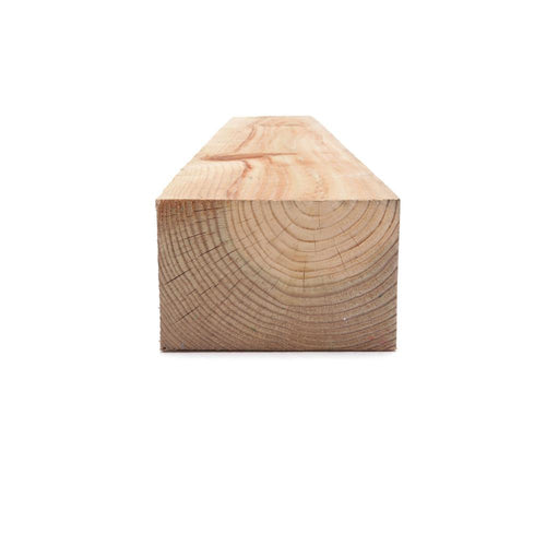 4 in. x 6 in. x 12 ft. #2 Ground Contact Cedar-Tone Pressure-Treated Timber - Denali Building Supply