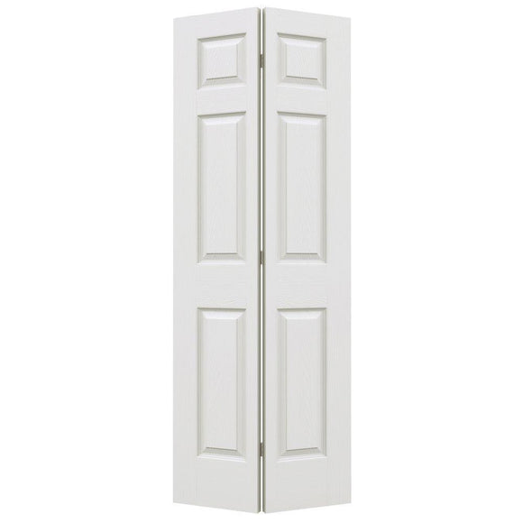 24 in. x 80 in. Colonist Primed Textured Molded Composite MDF Closet Bi-Fold Door - Denali Building Supply