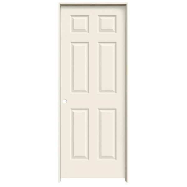 28 in. x 80 in. Colonist Right-Hand Primed Textured Molded Composite MDF Single Prehung Interior Door with Split Jamb by JELD-WEN